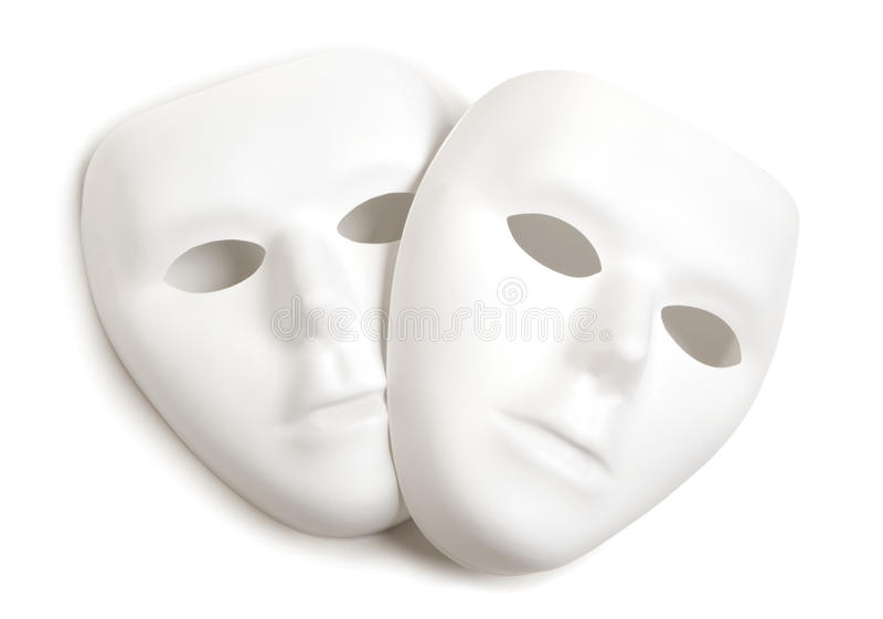 Witte maskers royalty-vrije stock foto