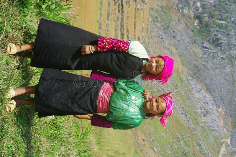 Witte Meisjes Hmong royalty-vrije stock afbeelding