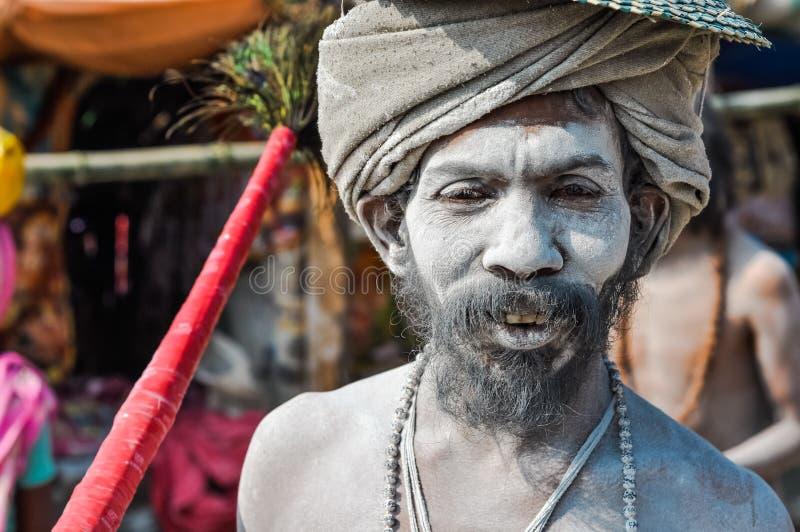 Witte mens in West-Bengalen stock foto