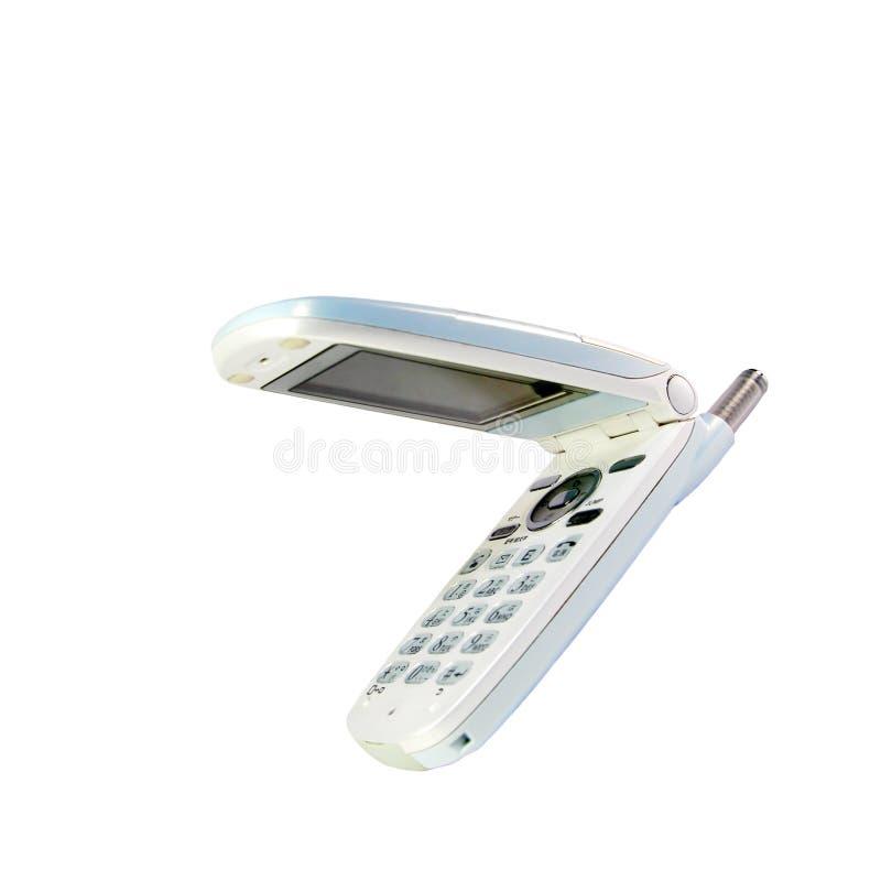 Witte mobiele telefoon stock foto's