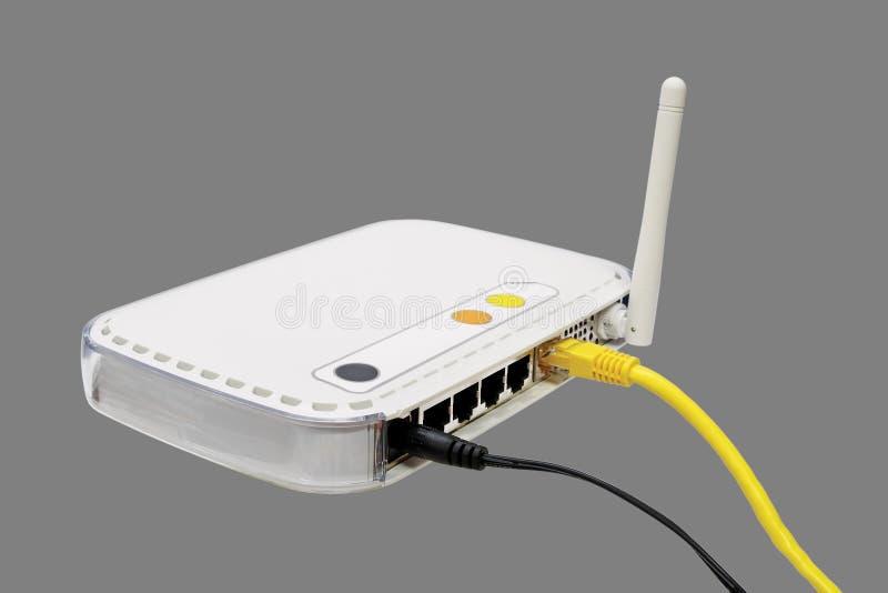 Witte modem. stock fotografie