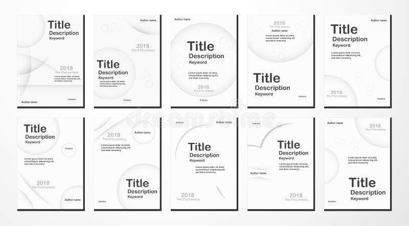 Witte moderne abstracte achtergrond met tekstruimte voor Webbanner, stock illustratie