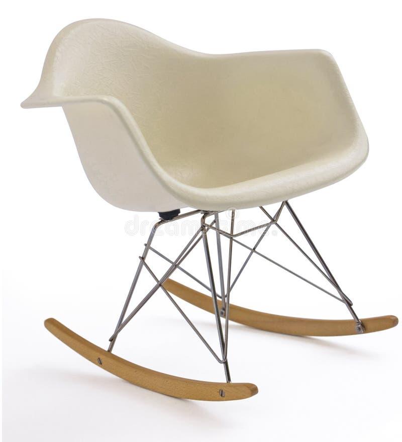 Witte moderne schommelstoel stock foto