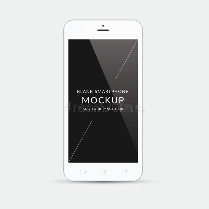 Witte moderne vector de illustratieisolatie van het smartphonemodel stock illustratie