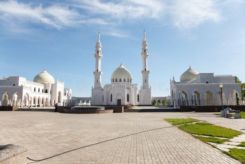 Witte moskee in aanbouw in Bolgar, Tatarstan, Rusland stock afbeelding