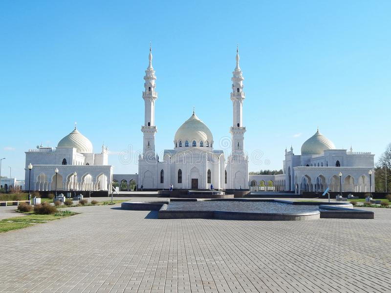 Witte Moskee in Bolgar in Tatarstan, Rusland stock foto