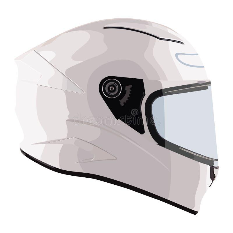 Witte motorfietshelm vector illustratie