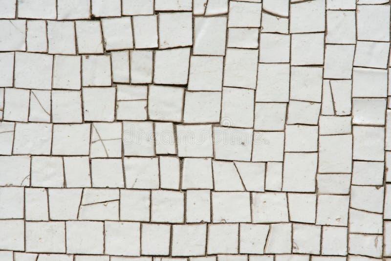 Witte mozaïeken stock afbeeldingen