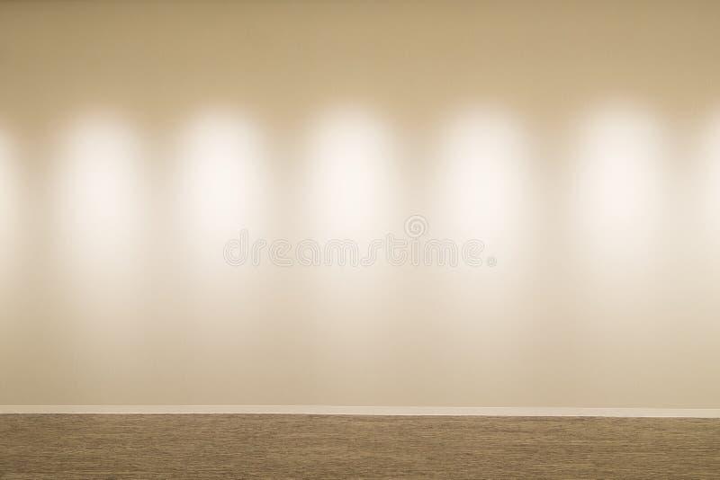 Witte muur en vloer royalty-vrije stock afbeeldingen