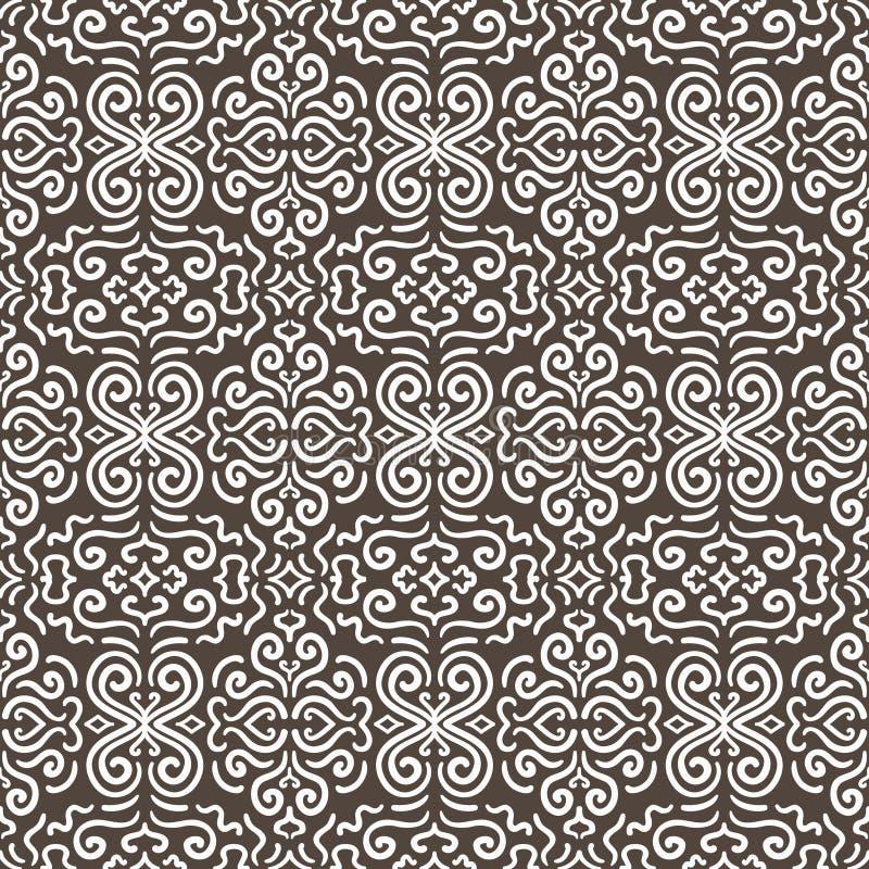 Download Witte Naadloze Het Patroonachtergrond Van Het Fantasiecontrast Vector Illustratie - Illustratie bestaande uit manier, narcotize: 39111060