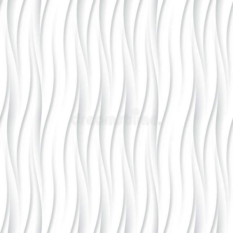 Witte naadloze textuur Golvende Achtergrond Binnenlandse muurdecoratie stock illustratie