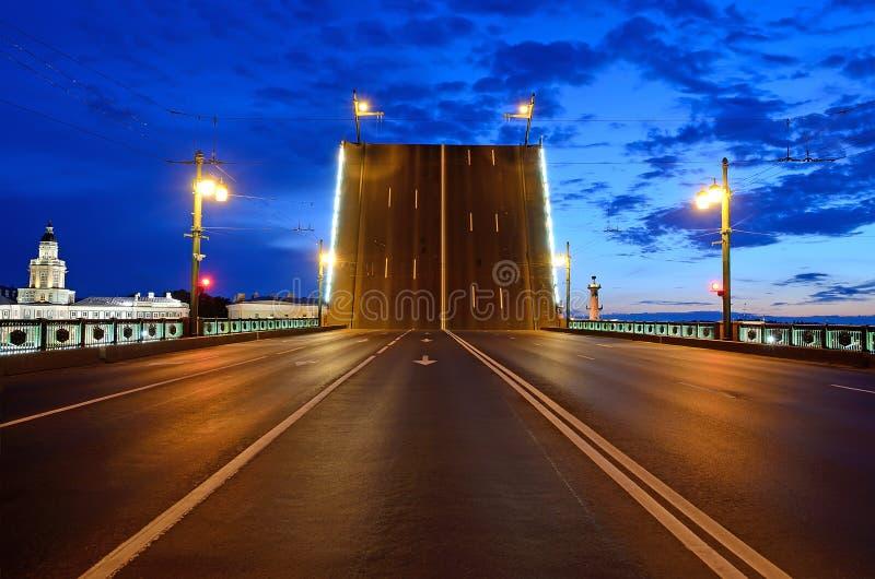 Witte Nachten in St. Petersburg royalty-vrije stock foto