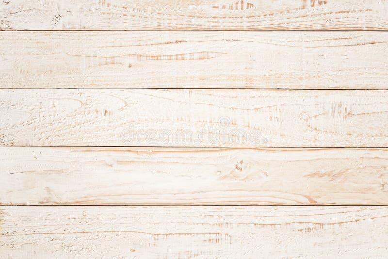 Witte natuurlijke houten wandtextuur en achtergrond, lege witte houten bovenzijde voor ontwerp, bovenste uitzicht witte tabel en  stock foto's