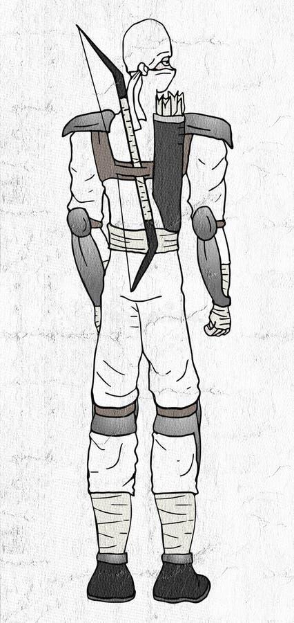 Witte ninja vector illustratie