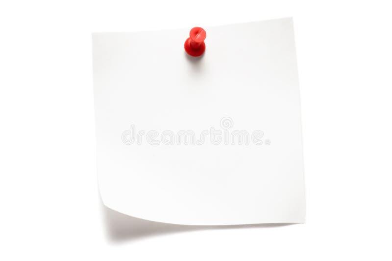 Witte Nota stock fotografie