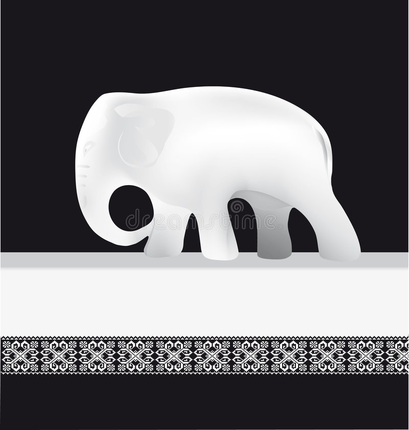 Witte olifant stock illustratie