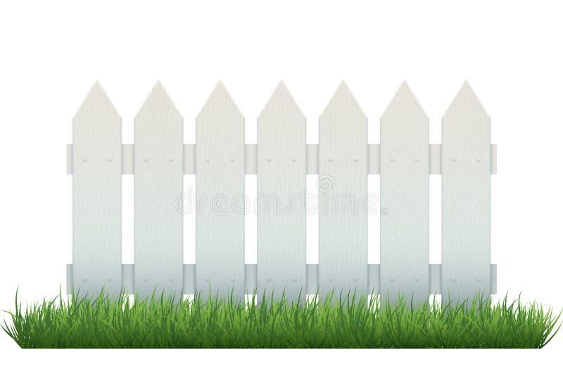 Witte omheining vector illustratie