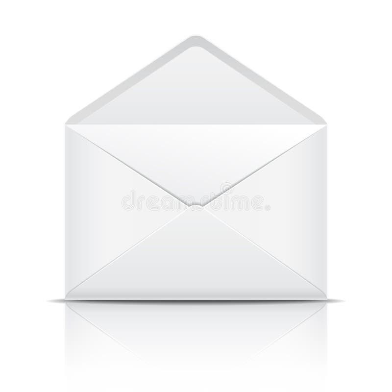 Witte open envelop vector illustratie