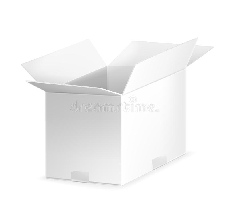 Witte open kartondoos stock illustratie