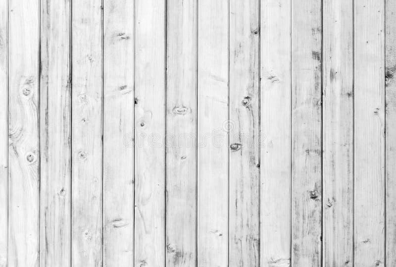 Witte oude houten of houten uitstekende plankvloer of van de muuroppervlakte decoratief patroon als achtergrond Een minimale tafe stock afbeelding