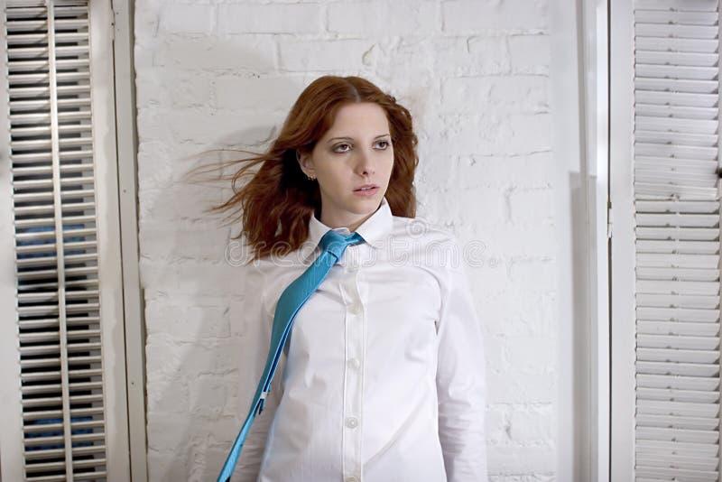Witte overhemd en band royalty-vrije stock afbeelding