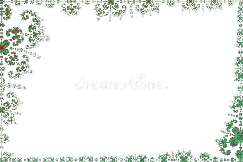 Witte pagina die door fractal frame wordt gegrenst stock illustratie