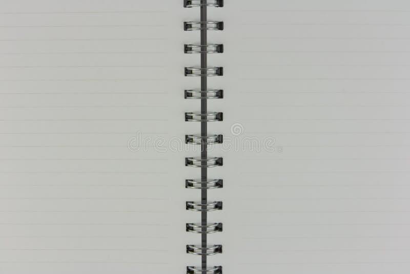 Witte pagina's van notitieboekje klaar te schrijven royalty-vrije stock fotografie