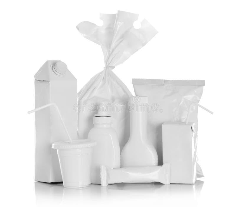 Witte Pakketdoos voor voedingsmiddelen royalty-vrije stock foto's