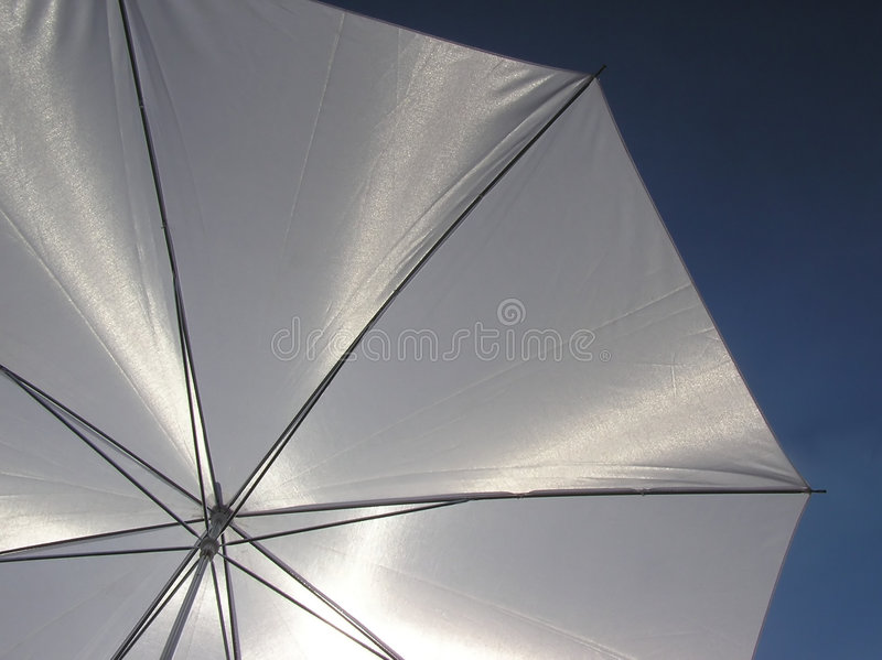 Witte paraplu royalty-vrije stock foto