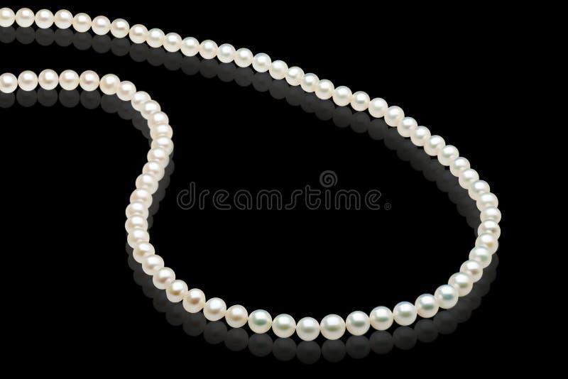 Witte parelshalsband royalty-vrije stock foto