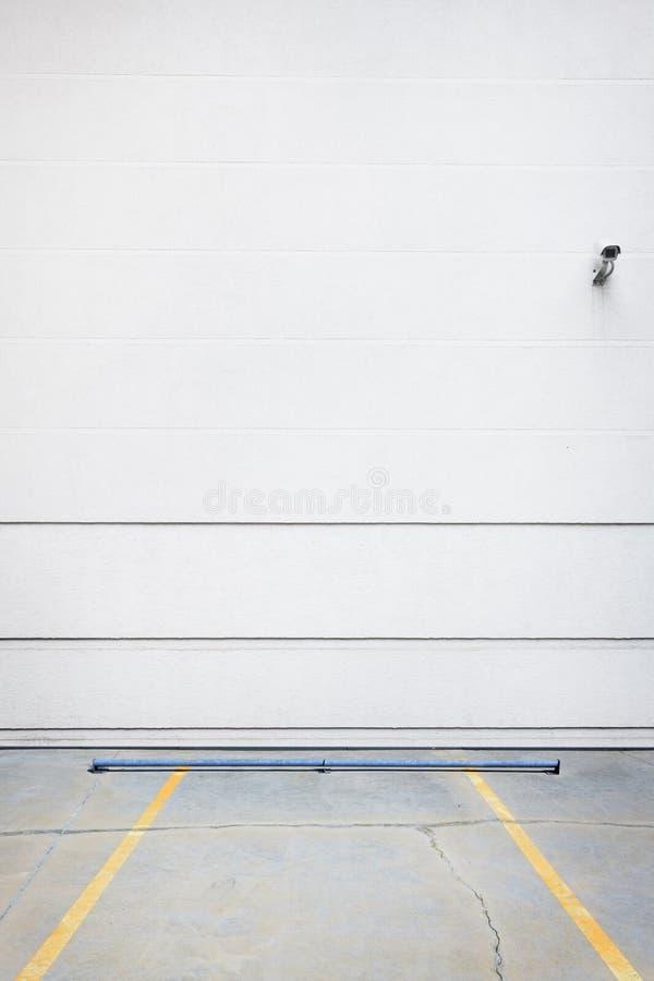 Witte parkerenmuur royalty-vrije stock afbeelding