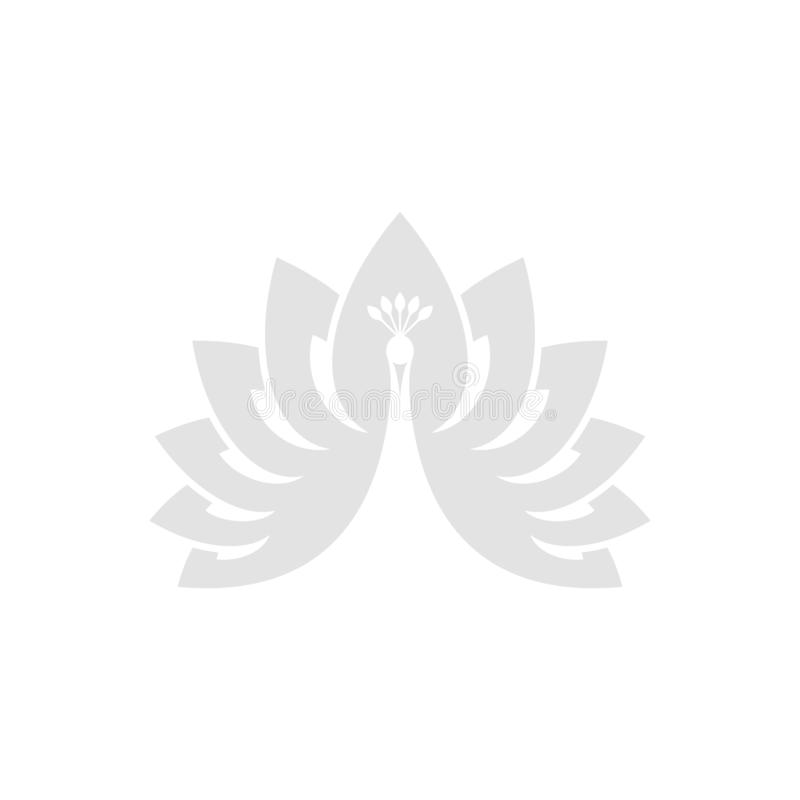 Witte pauw Abstracte Vogel royalty-vrije illustratie