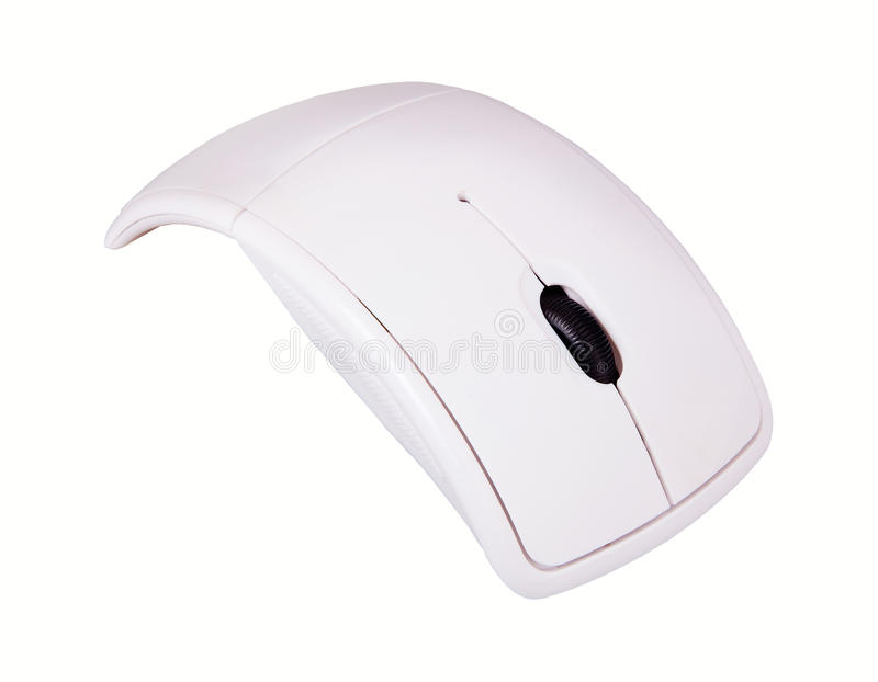 Witte PC-muis stock afbeelding