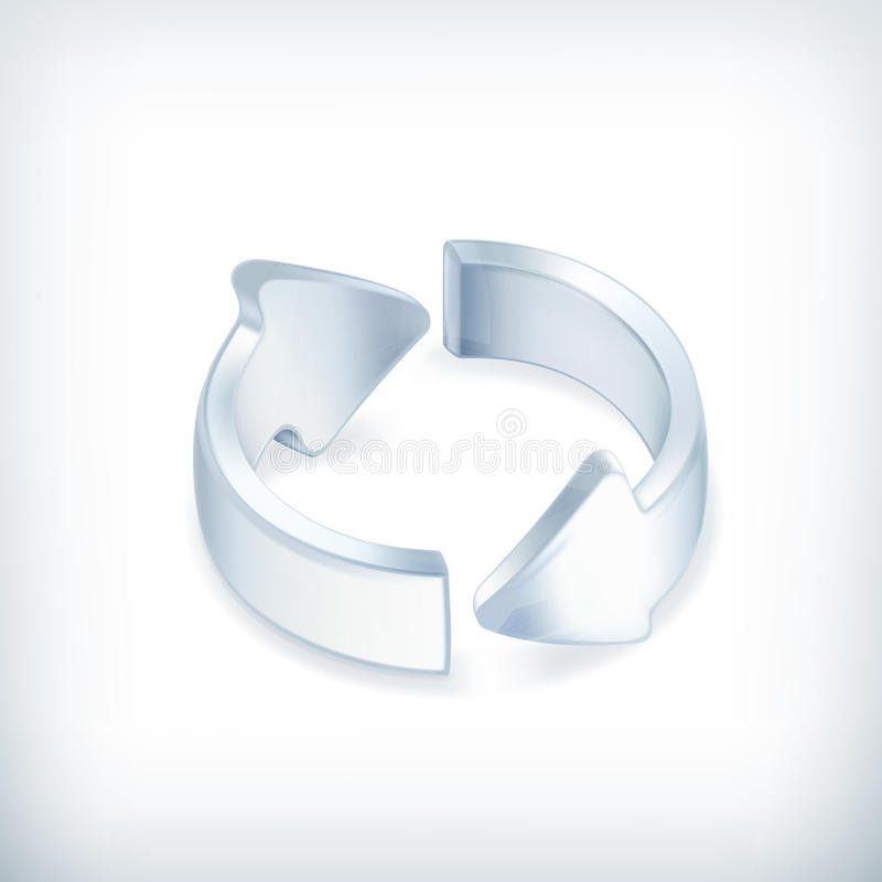 Witte pijlen, pictogram royalty-vrije illustratie