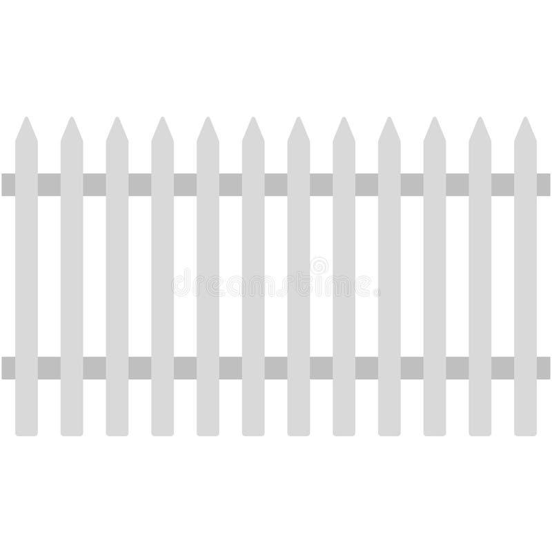 Witte Piketomheining Illustration vector illustratie