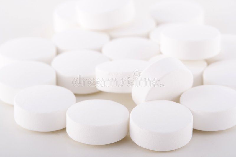 Witte pillen. royalty-vrije stock fotografie