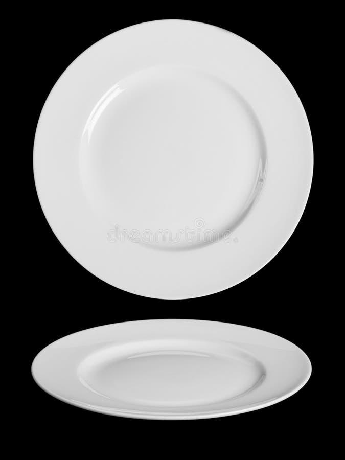 Witte plaat stock afbeeldingen