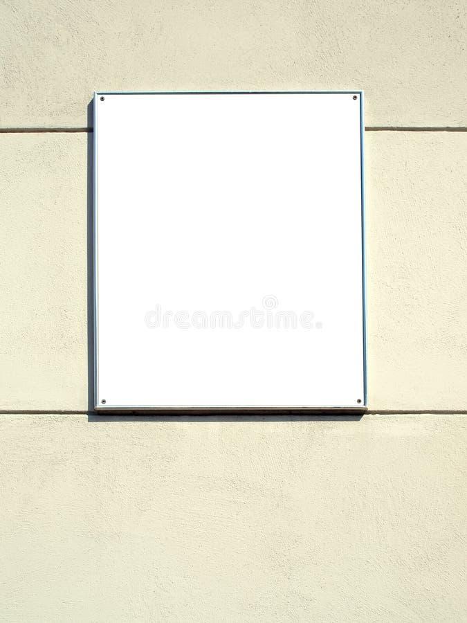 Witte plaat in een metaalframe stock foto's