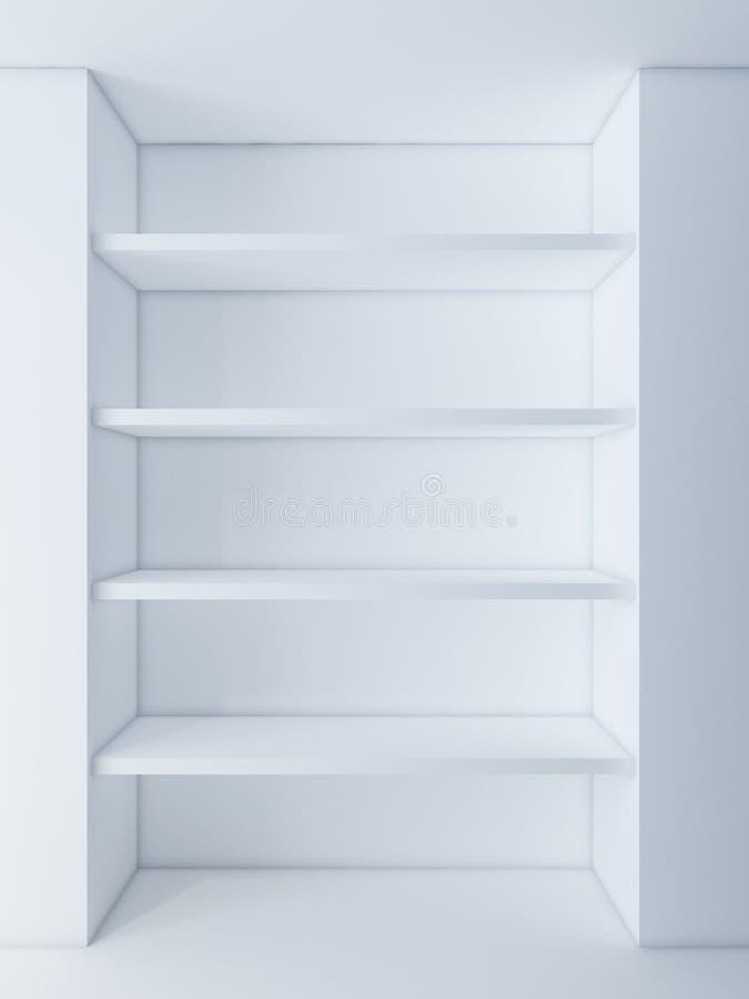 Witte plank op het muurgebied stock illustratie