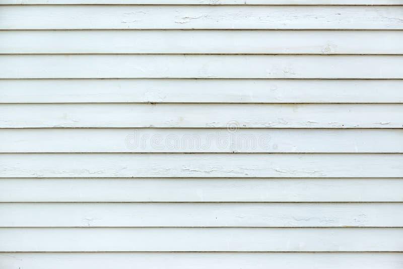 Witte planken van houten muuroppervlakte als hoge resolutietextuur stock afbeelding