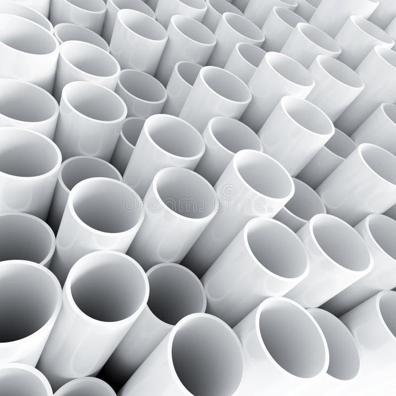 Witte plastic buis stock foto's