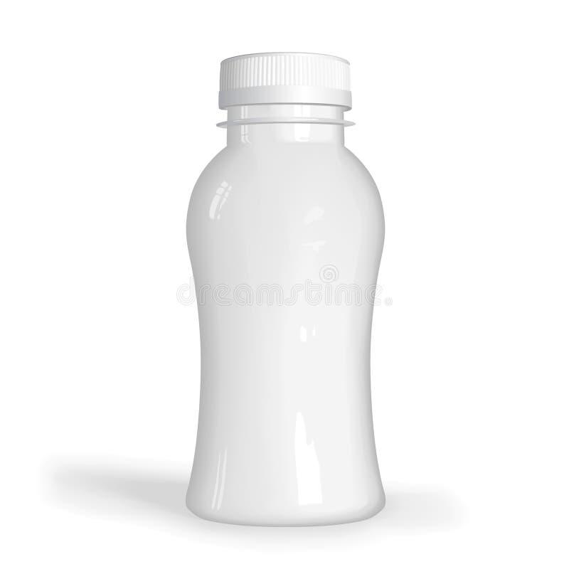 Witte plastic fles royalty-vrije illustratie