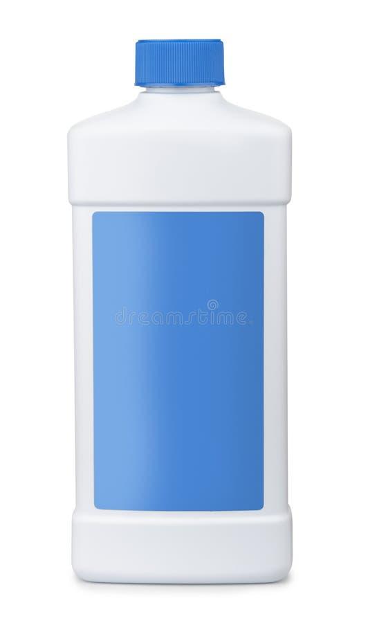 Witte plastic fles stock foto's