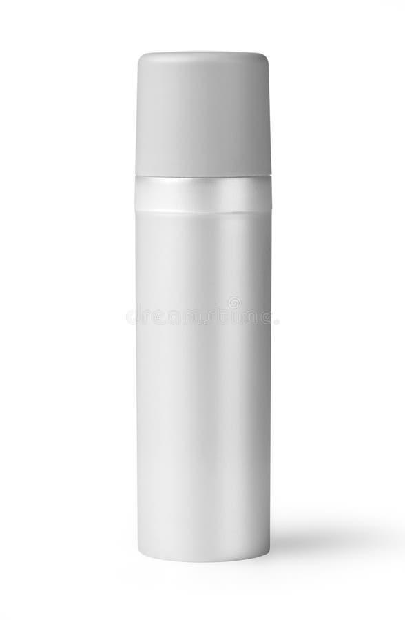 Witte plastic fles royalty-vrije stock fotografie