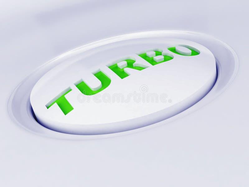 Witte plastic knoop royalty-vrije illustratie