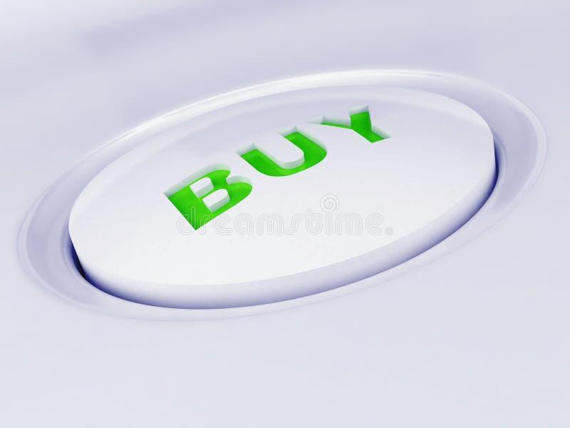 Witte plastic knoop royalty-vrije stock foto's