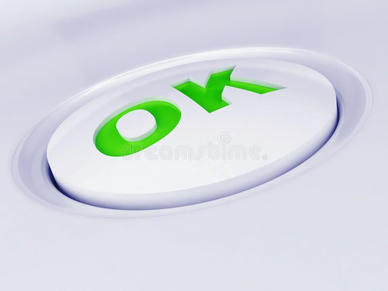 Witte plastic knoop stock illustratie