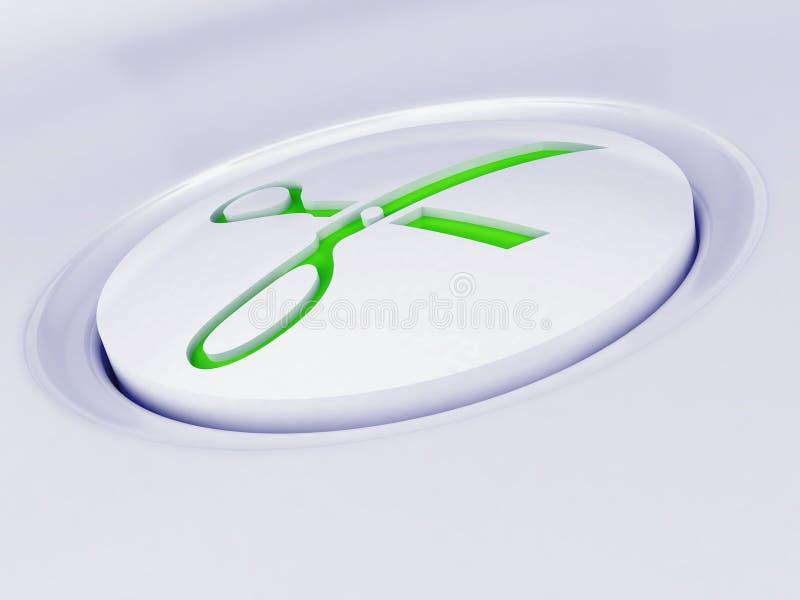 Witte plastic knoop royalty-vrije stock afbeelding