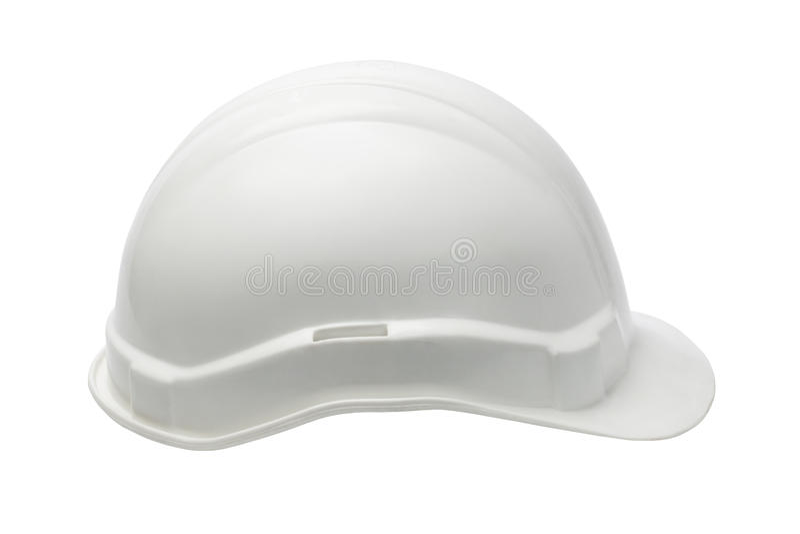Witte Plastic veiligheidshelm stock foto