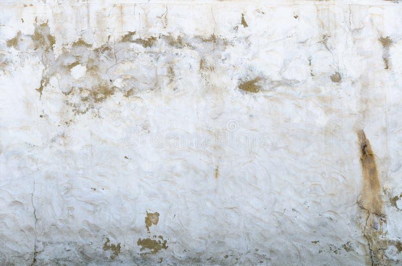 Witte pleistermuur vuil stock afbeelding